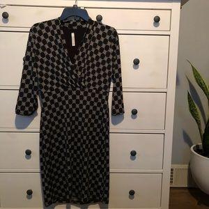 NEW Modcloth Retro Black Printed Dress